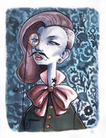 The Mustachioed Woman by boum