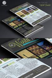 Free Print Ad Template PSD - World Traveler by CursiveQ-Designs