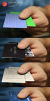 Free Business Card, Credit Card, Hand Mockup by CursiveQ-Designs