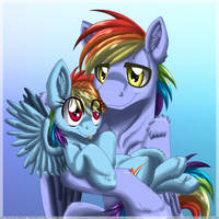 Rainbow in the Family by InuHoshi-to-DarkPen