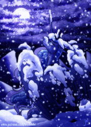Winter Solitude - Luna Day 2018 by InuHoshi-to-DarkPen