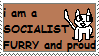 Socialist Furry Stamp by alamostown