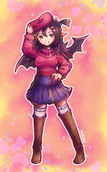 Raspberry Beret by Yukiru