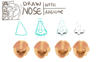 Drawing Nose Tutorial Part 1 by IndahAlditha