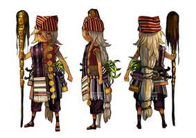 Character Design: Bataknese Shaman by IndahAlditha