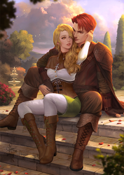 Commission : Liliana and Feirdon by IndahAlditha