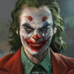 Joaquin Phoenix Joker Fan Art by IndahAlditha
