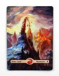 MTG - Painted MOUNTAIN - 1 by ETsVOXetANIMA