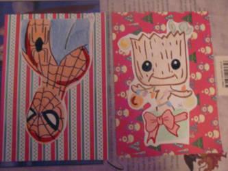 marvel cards by teazuko