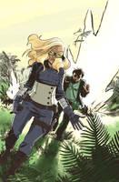 Mockingbird and Hawkeye Pierce by caanantheartboy