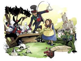 Kitty in Wonderland by caanantheartboy