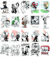 Sketch Cards by caanantheartboy