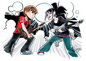 Scott Pilgrim vs Andi by caanantheartboy