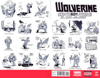Wolverine 01 Sketch Cover by caanantheartboy