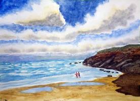 Sky and sea waves finished by gigi28