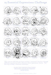 25 Expressions Challenge by Fadri