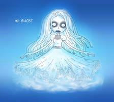 ~Monster Girl Inktober~ #01: Ghost by Fadri