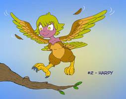 ~Monster Girl Inktober~ #02: Harpy by Fadri