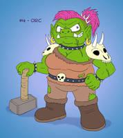 ~Monster Girl Inktober~ #04: Orc by Fadri