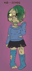 ~Monster Girl Inktober~ #18: Zombie by Fadri