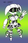 ~Monster Girl Inktober~ #21: Robot by Fadri