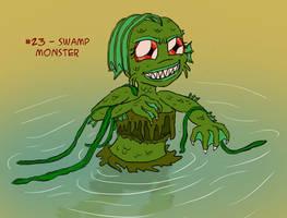 ~Monster Girl Inktober~ #23: Swamp Monster by Fadri