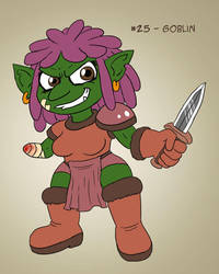 ~Monster Girl Inktober~ #25: Goblin by Fadri