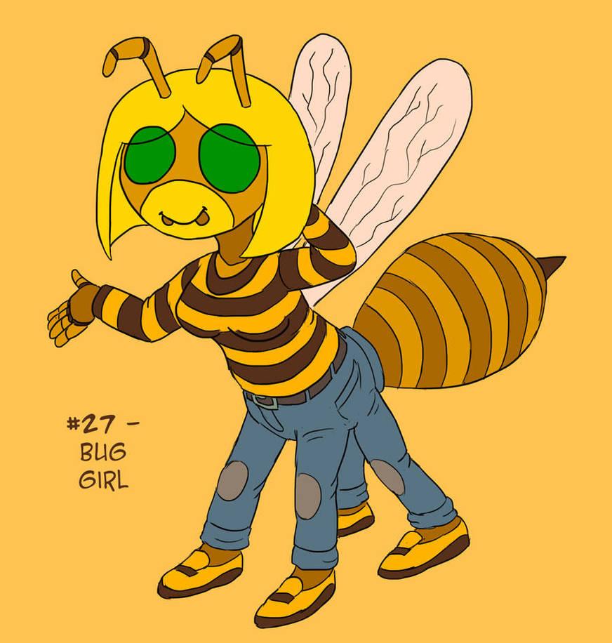 ~Monster Girl Inktober~ #27: Bug Girl by Fadri