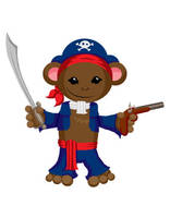 Pirate Monkey by neander