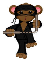 Ninja Monkey by neander