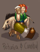 Petunia and Cannibal by neander