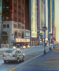 Chicago Evening by blindedangel