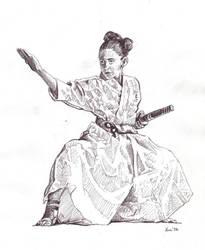 Samurai girl by Alleycatsgarden