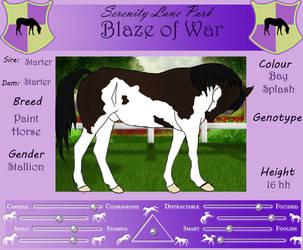 SLP Blaze of War by DiamondHorses