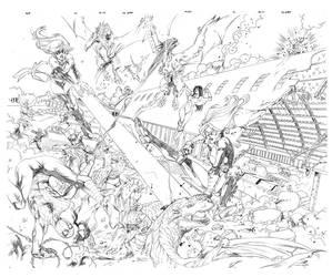Avengers vs dragons by igbarros