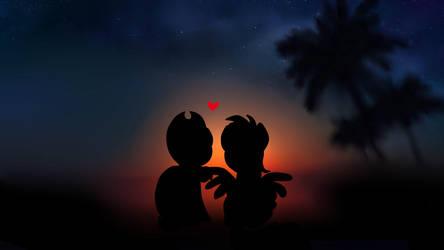 Appledash - sunset by AmatourArtist