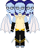 Pixel doll - Azriel Astrid and Amaya by TRADT-PRODUCTION