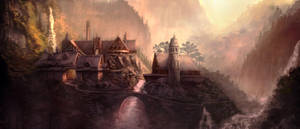 Lord of the Rings Film Study: Rivendell 2 by ChrisDrake1987