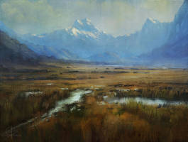 Mountain and Field Study by ChrisDrake1987