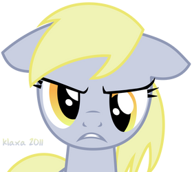 Angry Derpy Hooves by klaxa