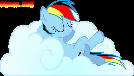 German Rainbow Dash on Cloud by klaxa