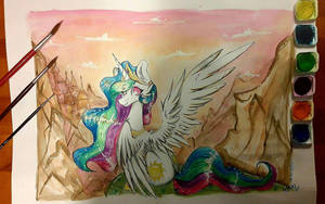 Princess Celestia by Woonborg