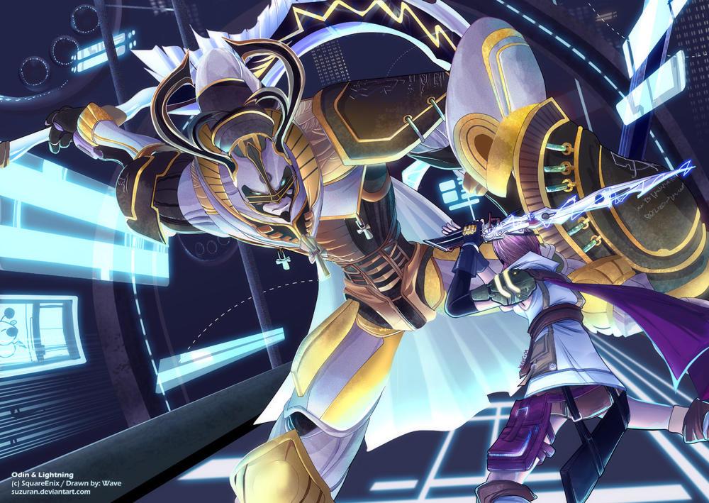 Lightning V.S. Odin by suzuran