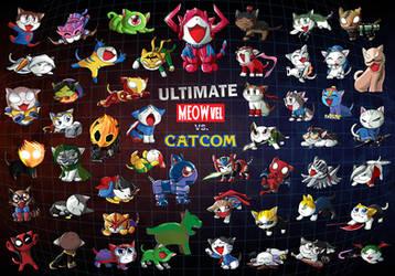 Ultimate Meowvel vs Catcom 3 by suzuran