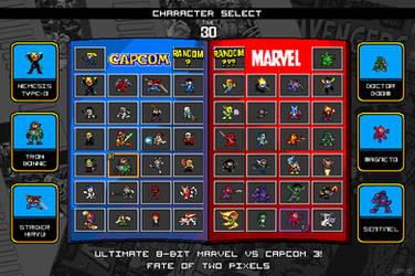 8Bit Ultimate Marvel vs Capcom by suzuran