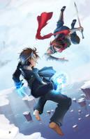 X-Man vs Strider by suzuran