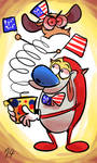 ren and stimpy meets Independence Day by EZstrongs