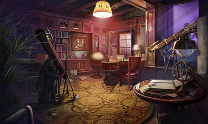 Astronomer's Room by z714-alex