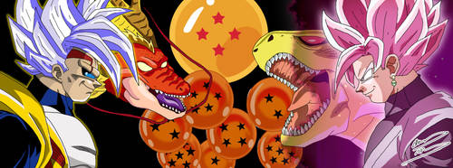 Commission - SSJ Rose Goku Black vs. Baby Vegeta by OptimumBuster