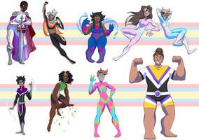 Lgbt Heroes by Giantchocolatecat